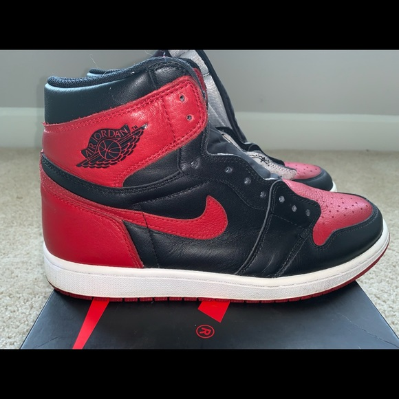 finest selection 9f3cb d4045 Retro OG Jordan 1 Bred Toe Size 11